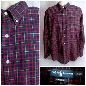 Ralph Lauren Polo 2XL Men Plaid Long Sleeve Shirt